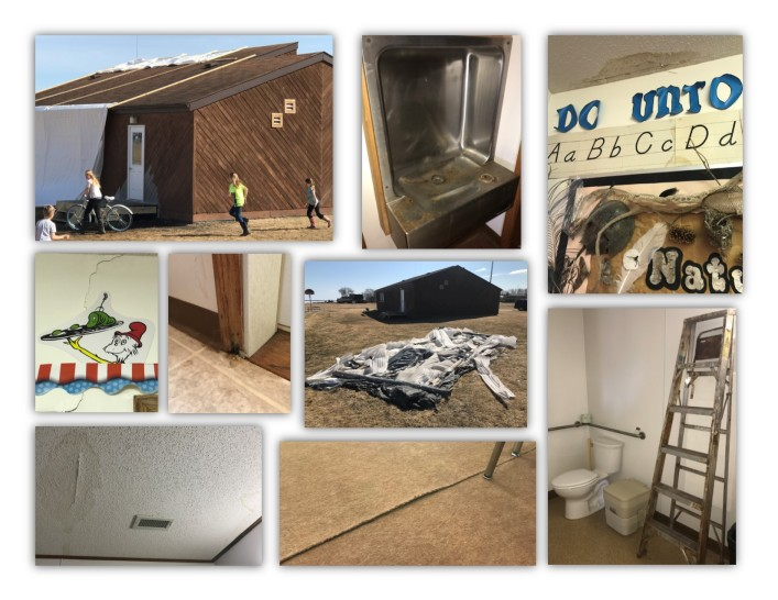 School Damage Collage