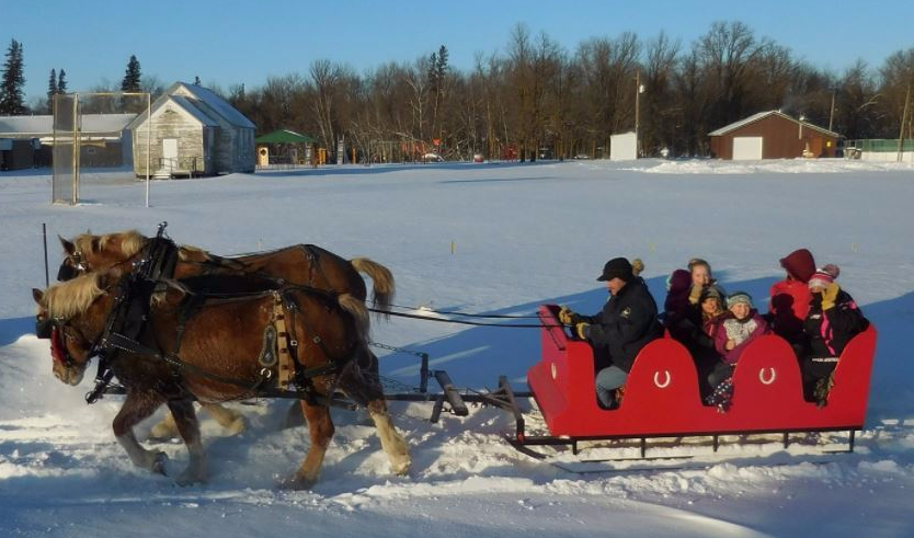 The Reller family gives sleigh rides at Wannaska's Santa Clause Day