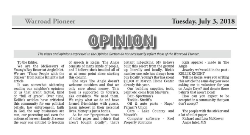 Column 95 Letter to the Editor McKeever